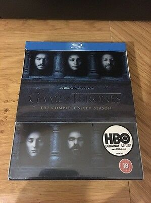 Game of Thrones - The Complete Sixth Season 6 (Blu-Ray) New & Sealed