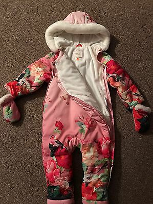 TED BAKER beautiful Girls Snowsuit/All In One 18-24 Months