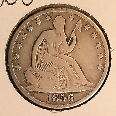 1856-O 50C Liberty Seated Half Dollar [Auto Comb. Shipping](26393)