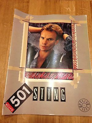 Sting Dream Of The Blue Turtles World Tour Programme with Ticket Stub - Rare