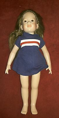 18in Doll Brunette Long Hair Brown Eyes Custom American Girl Body Type Prop