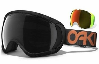 Oakley Canopy Goggles Factory Pilot Solid With Dark Grey And Fire Lens
