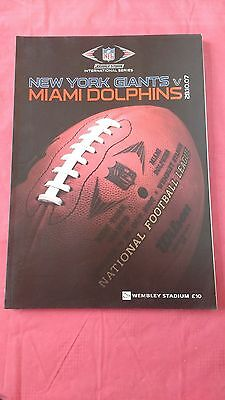 New York Giants v Miami Dolphins 2007 American Football Programme