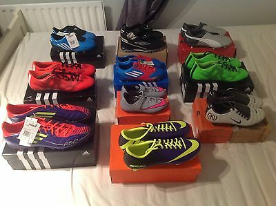Adidas  / Nike And Puma Trainers And Football Boots New With Boxes Job Lot X10