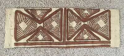 "Vintage Papua New Guinea Tapa Cloth Bark Cloth 32"" x 11"""