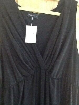 Bnwt��Next Maternity��Size 22 Black Crepe Stretchy Jumpsuit Evening Daily New £