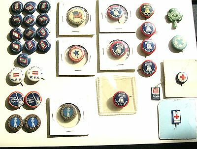 Collection of 34 WWI pinback buttons pins  all nice condition