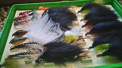 Box of trout flies lures - hand tied by Bob Carnill - Box1