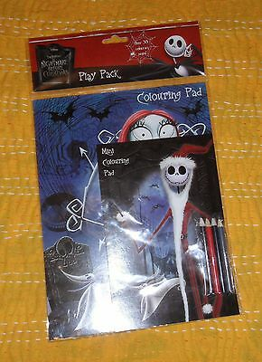 Disney Nightmare Before Christmas Colouring Book Pad & Pencils
