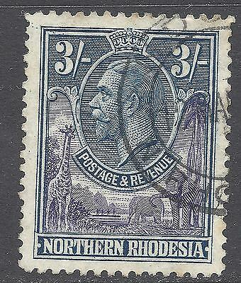 REDUCED! NORTHERN RHODESIA 1925 KGV SG 13   3/-   3s  FU  Fine Used    K423f