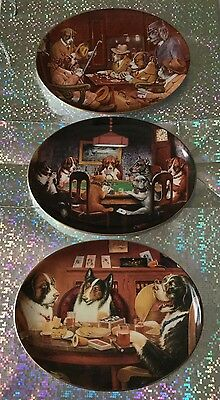 The Franklin Mint Heirloom limited Edition decorative Dog plates X 3