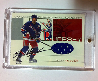2001-02 BAP ITG Signature Series MARK MESSIER Jersey Auto /10