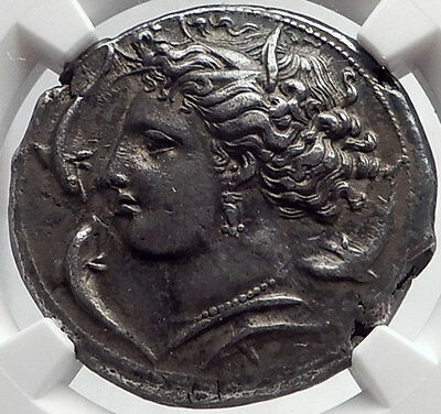 SICILY under Carthage Siculo-Punic Ancient Silver Greek Tetradrachm Coin NGC