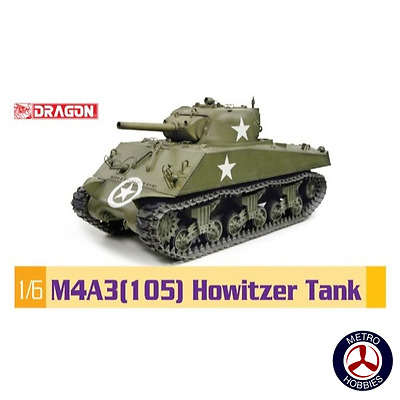 Dragon 1/6 75046 M4A3(105) Howitzer Tank - Brand New