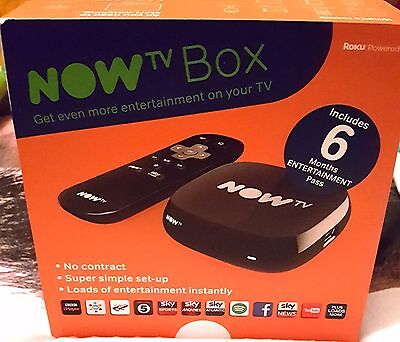 Now Tv Box With 6 Month Entertainment Pass Brand New Sealed