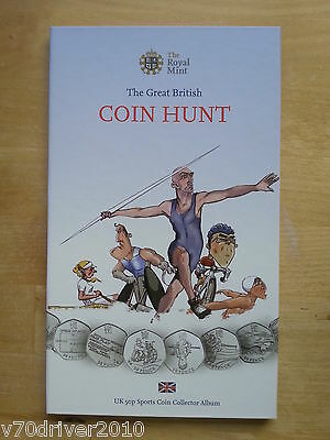 Coin Hunt Olympic 50p Sports Album Royal Mint Coin Folder Completer Medallion LA