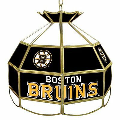 """NHL - Boston Bruins - 16"""" Stained Glass Tiffany Style Lamp - Game Room"""