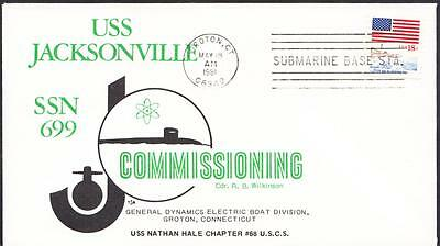 Submarine USS JACKSONVILLE SSN-699 COMMISSIONING Naval Cover (2115)