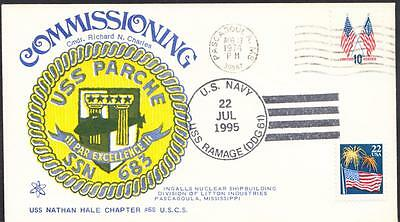 Submarine USS PARCHE SSN-683 COMMISSIONING Naval Cover (2104)