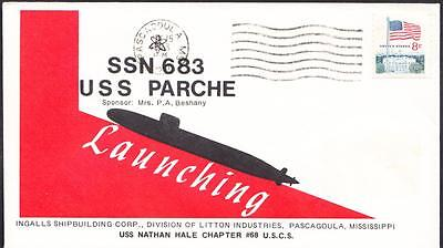 Submarine USS PARCHE SSN-683 LAUNCHING Naval Cover (2103)