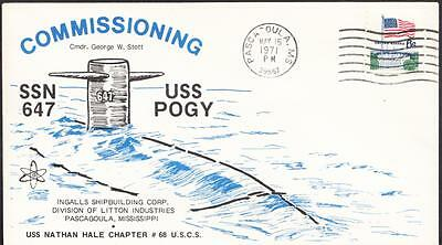 Submarine USS POGY SSN-647 COMMISSIONING Naval Cover (2095)
