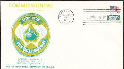 Submarine USS BILLFISH SSN-676 COMMISSIONING Naval Cover (2097)