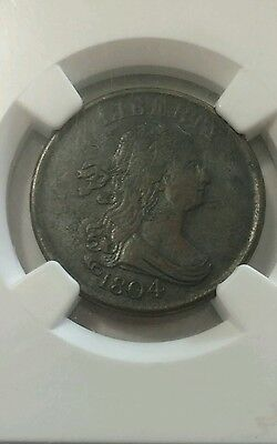 1804 Draped Bust Half 1/2 Cent~ NGC XF Details. Spiked Chin~SALE!