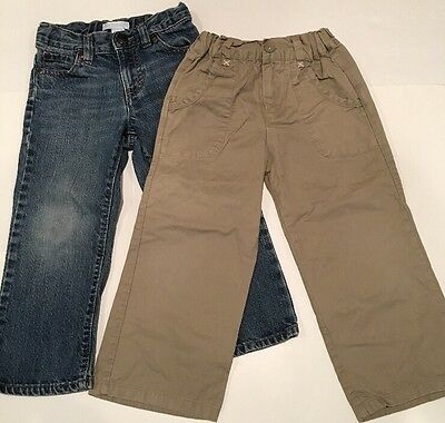 Lot of 2 Boys Pants 3T Old Navy Jeans and EGG Baby Khaki Pants