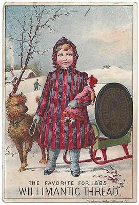 Willimantic Thread Trade Card, Trautmann, Bailey & Blampey Lith - Pottstown, PA