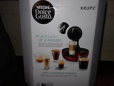 Krups KP3505 NESCAFÉ Dolce Gusto Drop Touch Red Coffee Machine