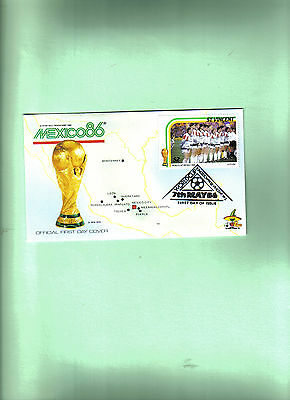 1986 mexico world cup first day cover featuring scotland team