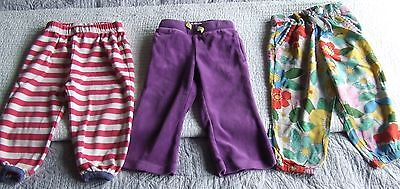 3 x lovely pairs trousers girl 12-18 months Frugi stripe Mini Boden Next floral