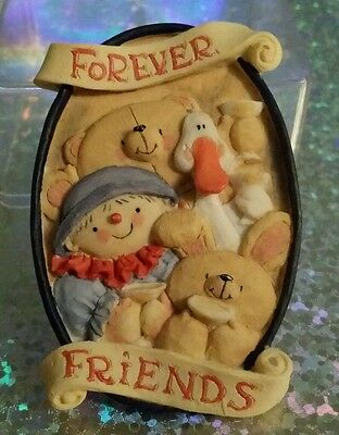 Forever Friends Vintage Ceramic Plaque Magnet - All Friends Celebrate Together