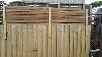 2400 X 500 Hardwood woven fence extension