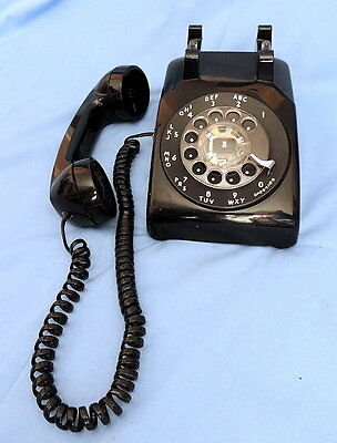 Vintage Western Electric Black Desk Rotary Phone - Untested