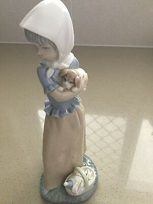 "Nao by Lladro ""Protecting the Dog"""