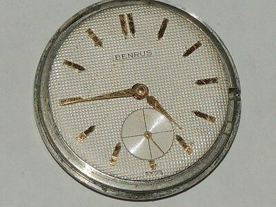 Mens Vintage BENRUS watch movement Model DN 24 for parts