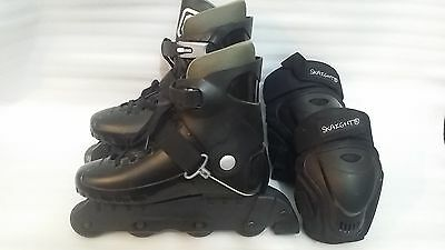 Skaties sport series roller boots size 6/7 UK with knee and elbow guards