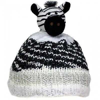 TOP THIS! ZEBRA YARN KIT, Knit a Hat & Top it with a Plush Animal Topper NEW