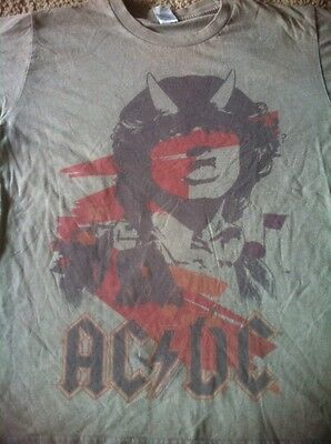 AC/DC Angus Young With Horns T Shirt Men's M Highway To Hell Heavy Metal