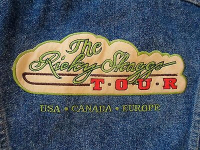 Vintage Ricky Skaggs Country Tour Music Wrangler Denim Jacket Coat Size XL