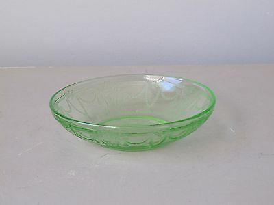 Anchor Hocking Cameo Green Cereal Bowl 1930's Depression Glass