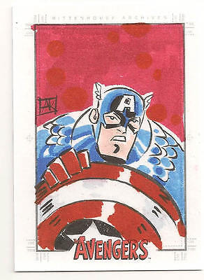 Avengers: Silver Age Sketch  Captain America   NICE!!!!