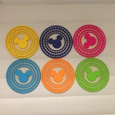 Mickey Mouse Silicone Coasters Set Of 6