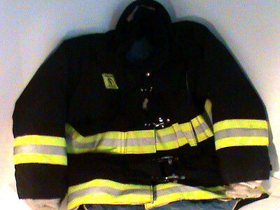 Black Morning Pride Coat, Firefighter Turnout Gear Firefighting