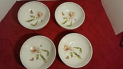 Set of 4 Marjolein Bastin Wildflower Meadow Soup Cereal Bowls Butterfly  Flower