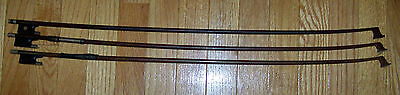 lot 3 VINTAGE ANTIQUE VIOLIN FIDDLE BOW MOTHER PEARL INSETS
