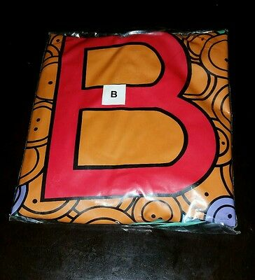 The Letter People Mr. B Beautiful Buttons Huggables Inflatable 1998  NEW!