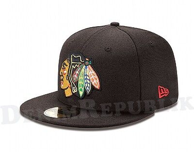 New Era 5950 CHICAGO BLACKHAWKS Team Cap National Hockey League NHL Fitted Hat