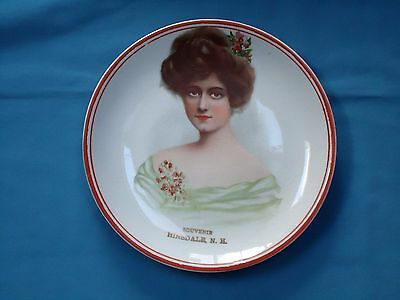 Beautiful HINSDALE NH Souvenir plate 1890-early 1900s
